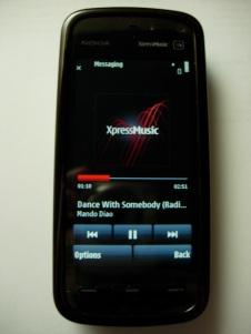 Nokia 5800 music player